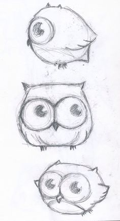 Cute owl, it isn't very difficult to draw, so... Let's try!