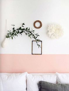 The Little Known Secrets To Half Painted Walls Living Room 84 - Pecansthomedecor Pink Accent Walls, Accent Wall Bedroom, Pink Walls, Half Painted Walls, Half Walls, Home Bedroom, Bedroom Decor, Wall Decor, Bedroom Ideas