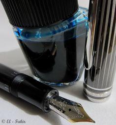 Montblanc Meisterstück 146 - Doué Black & White w/ Montblanc Turquoise