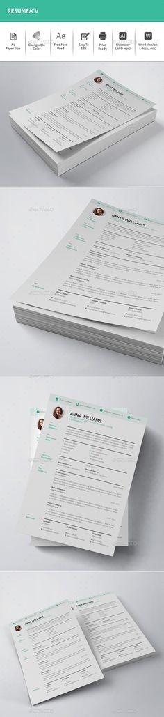 Resume Cv resume template, Template and Graphics