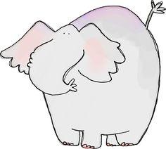 Elephant Collage Sheet-Digital Download-ClipArt-Art Clip