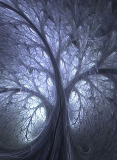 Fractal Tree - Mathematical paintings and sculptures
