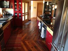Summers Reclaimed Tobacco Heart Pine Floors, Pine, Kitchen Cabinets, Rustic, Landscape, Architecture, Heart, Inspiration, Furniture