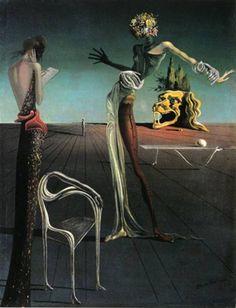 Salvador Dalí (1904–1989)  Femme à tête de roses, 1935  Öl auf Holz, 35 x 27 cm  Erworben 1964  © ProLitteris