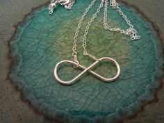 infinity necklace delicate simple modern figure by greygoosegifts, $25.00