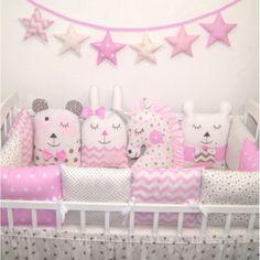 Mantinel do postýlky růžový 12 polštářků (Chránič do postýlky) Toy Chest, Storage Chest, Pillows, Toys, Baby, Furniture, Home Decor, Google, Activity Toys