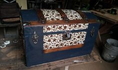 This is an old but restored trunk - so pretty. Antique Trunk Restoration of East Texas