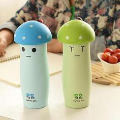 I WANT I WANT *** Cuteberry - Smiley Mushroom Tumbler