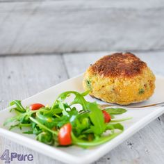 Fish Burger - 4Pure #recipe #fish #maindish #burger http://www.4pure.nl