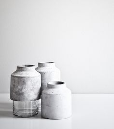 Vase in concrete & glass, Hanne Willman