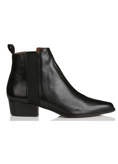 Discover this Leon & Harper Pointed-toe Leather Ankle Boots Black from our  Leon &
