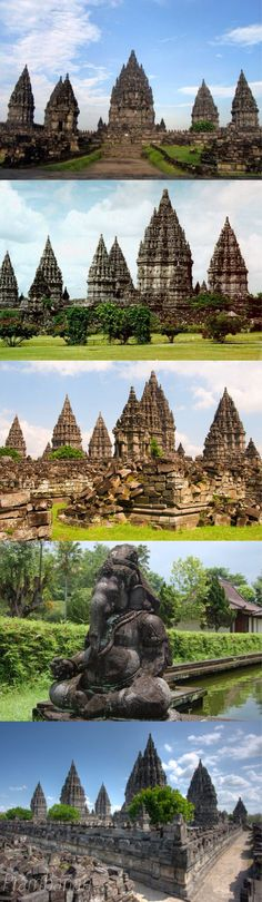 Candi Prambanan or Candi Rara Jonggrang is a 9th-century Hindu temple compound in Central Java, Indonesia, dedicated to the Trimurti, the expression of God as the Creator, the Preserver and the Destroyer.