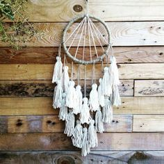 Dream catcher pompons coton