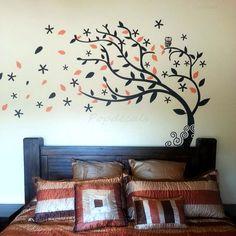 Bedroom Tree Decals Nature Tree Stickers Vinyl Tree door PopDecals (meer op etsy)