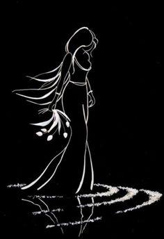 Fish bone pictures by Ukrainian artist Elena Zhuravskaya Black Paper Drawing, Scratchboard Art, Silhouette Art, Fish Art, Art Drawings Sketches, Black Art, Doodle Art, Art Pictures, New Art