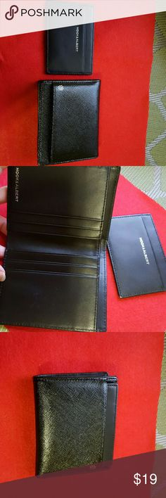 Hook & Albert  Bifold wallet w/ removable card New Hook &Albert Bifold Wallet with removable card in elegant black pebbled leather exterior with a contrasting smooth leather interior provides extra style &elegance to this simple & functional daily accessory with 6 interior card pockets, long top pocket for cash New without Tag. Grab a deal.. Hook & Albert Bags Wallets