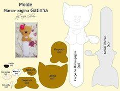 Mãe & Filha Artesanatos: Marcador de Página_By Rafa Gibrim_Moldes