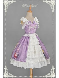 Open Front Sweet Lolita JSK with Tiered Design at Front Skirt - Summer Maidens by Souffle Song