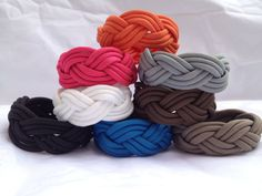 Turks Head Paracord Bracelet -CHOOSE COLOR