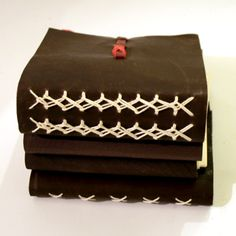 Venetian leather journal - Loop the Loop by Owl & Lion.