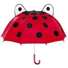Lady bug umbrella.