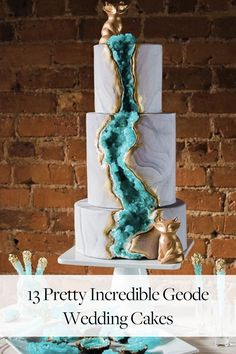 We're kind of obsessed with these incredible geode wedding cakes crafted from rock candy.