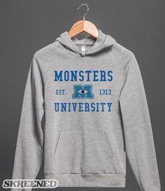 Monsters University Hoodie #Skreened I WANT!!!!!!!!!!!!!!!!!!!!!!!