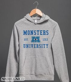 Monsters University Hoodie #Skreened I WANT!!!!!!!!!!!!!!!!!!!!!!!