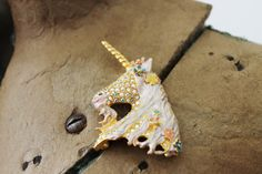 Vintage Kirks Folly Unicorn Brooch