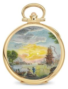 Patek Philippe Pocket Watch, Art Watch, Gold Hands, Luxury Watches For Men, French Artists, White Enamel, Colored Diamonds, Vintage World Maps, Clock