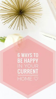 I loved this post on how to be happy in your current home! It's true, no matter where you live you can be happy living there! Read it now and pin for later.