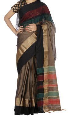 Grey Color Narayanpet Cotton Saree