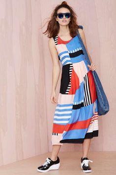 Dusen Dusen Take Shapes Silk Dress