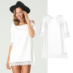 Sommerkleid im Hippie-Look Hippie Look, Neue Trends, Outfit, Cover Up, Summer Dresses, Style, Fashion, Fall Shopping Outfit, Fashionable Outfits