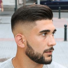 As one of the latest hair trends for men, the skin fade comes in a variety of cuts, such as a high, mid and low bald fade haircut. The low fade haircut can best be described as a lasting style that only gets better with time. Mens Medium Length Hairstyles, Hairstyles Haircuts, Fade Hairstyles For Men, Crew Cut Hair, Short Hair Cuts, Short Hair Styles, Luxy Hair, Low Fade Haircut, Men Haircut Short
