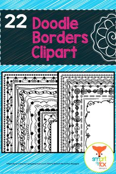 This 'Doodle Borders Clipart Pack' contains 22 fun and unique borders, ready to spice up all of your printables, worksheets, cover pages, and give them the extra boost they need to stand out from the crowd! Math Clipart, Science Clipart, Zen Doodle Patterns, Doodle Borders, Classroom Posters, Classroom Decor, Classroom Organization, Classroom Management, Sharpie Doodles