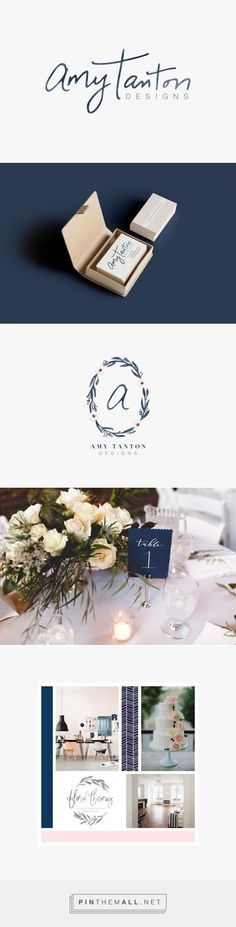 Amy Tanton Designs branding by Letterform Creative. Looking for logo or branding ideas for your business? This brand identity design combines the feminine and modern aspects of this business into a beautiful identity. Click through for more branding inspiration!