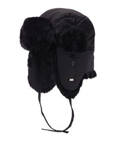 Exclusively from Simons     Inspired by Arctic expeditions, this ultimate cold-weather accessory will make you fall in love with winter   Genuine rabbit fur for soft and stylish protection from the cold