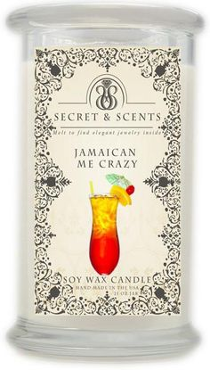 Elegant Jewelry in Soy Candle - Secret and Scents Highly Scented Soy Candles - Pick Your Scent and Jewelry Type (Jamaican Me Crazy, Ring Size Mojito Drink, Mint Mojito, Soy Wax Candles, Scented Candles, Sweet Red Wines, Dry Coconut, Summer Scent, Jewelry Candles, My Crazy