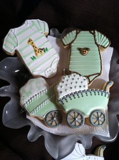 Fondant Cookies, Cupcakes, Cupcake Cookies, Giraffe Cookies, Iced Cookies, Sugar Cookies, Baby Shower Sweets, Baby Shower Cookies, Shower Baby