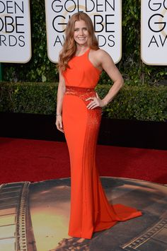 Amy Adams in an Atelier Versace dress and Neil Lane jewelry