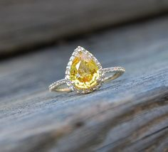 yellow topaz ring