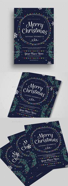 Christmas Event Flyer — Photoshop PSD #poster #holiday • Available here ➝ https://graphicriver.net/item/christmas-event-flyer/20944805?ref=pxcr