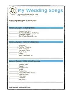 Wedding Budget Calculator #weddingcalculator #wedddingbudget http://ift.tt/2gkiuf4