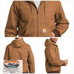 Craftsman Men/'s M-2XL Full-Zip Hooded Heavy Canvas Duck Work Jacket Brown