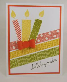 Build A Birthday With Washi Tape
