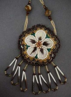 Native American Beadwork jewelry by Frances (Gal) Frey at Home & Away Gallery   WOW !!!!!! BEAUTIFUL