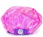 Pink, Pink, PINK! http://bluegiraffeboutique.com/shower-caps/ #drydivas