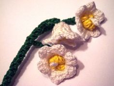 Crochet Lily of the Valley ~ Pattern 68