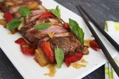 Magret de pato con salsa hoisin